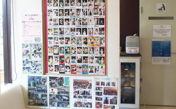 川崎市野上歯科医院 壁面子供写真